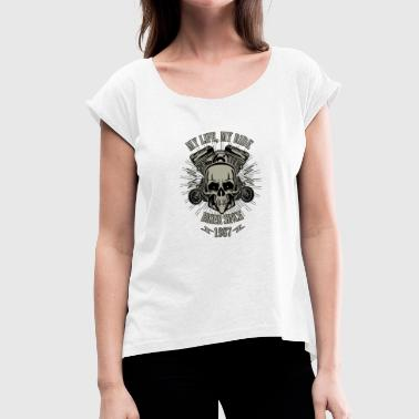 1987 Year Gift for Biker - Year 1987 - Women's T-Shirt with rolled up sleeves