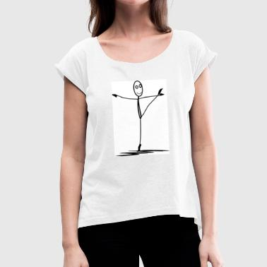The Dancing Sticky - Women's T-Shirt with rolled up sleeves