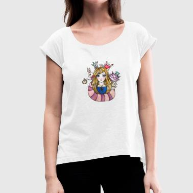 Alice In Wonderland Alice In Wonderland - Camiseta con manga enrollada mujer