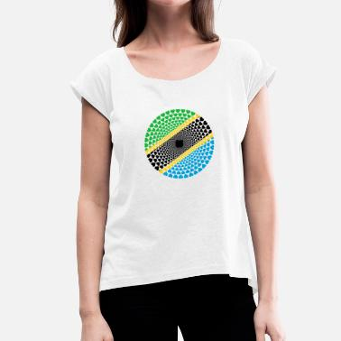 Dar Es Salaam Tanzania Tanzania Love HEART Mandala - Women's T-Shirt with rolled up sleeves