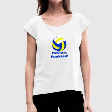 Points points - Women's T-Shirt with rolled up sleeves