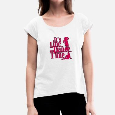 Line line dance - Women's T-Shirt with rolled up sleeves