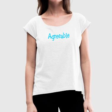 Enjoyable - Women's T-Shirt with rolled up sleeves