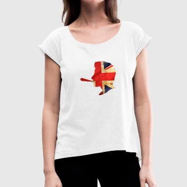 GB - Women's T-Shirt with rolled up sleeves