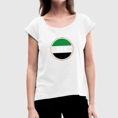United Arab Emirates gift Abu Dhabi - Women's T-Shirt with rolled up sleeves