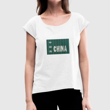 Far East Flight to China - Women's T-Shirt with rolled up sleeves