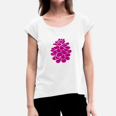 Magenta Magenta pinecone - Women's T-Shirt with rolled up sleeves