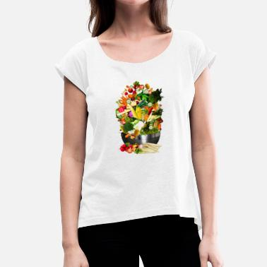 Cauliflower Cauliflower cauliflower halloween vegetable vegetable - Women's T-Shirt with rolled up sleeves