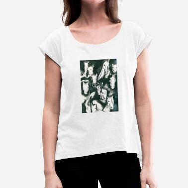 Schwarz-weiß Pferde Herde von Pferden in Schwarz und Weiß - Frauen T-Shirt 117c999448