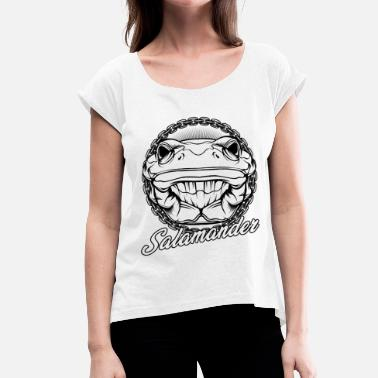 Newt Salamander Wildlife Newt Amphibian Lurch Gift - Women's T-Shirt with rolled up sleeves