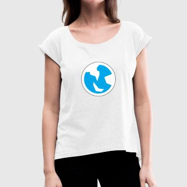 Simplistic Materialistic Earth - Women's T-Shirt with rolled up sleeves