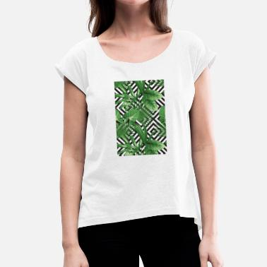 Tropical Geometry - Women's T-Shirt with rolled up sleeves
