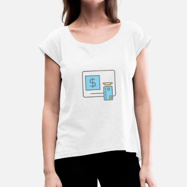 Bank Bank Machine - Women's T-Shirt with rolled up sleeves