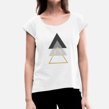 triangles - Women's T-Shirt with rolled up sleeves