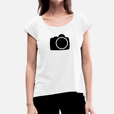 Camera Icon camera - Women's T-Shirt with rolled up sleeves