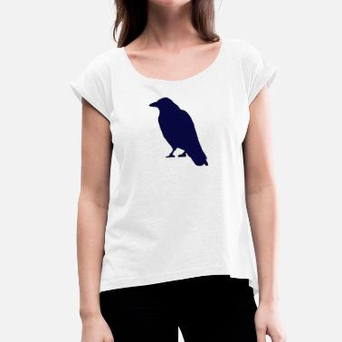 Crow Bir d584 - Women's T-Shirt with rolled up sleeves