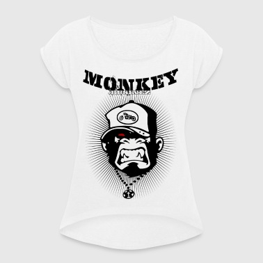 Monkey Businez - Biker - Frauen T-Shirt mit gerollten Ärmeln