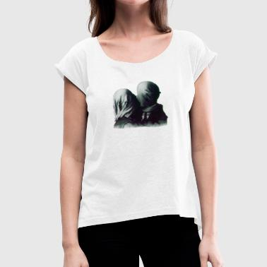 Les amants magritte - Women's T-Shirt with rolled up sleeves