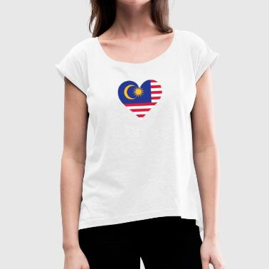 Penang A Heart For Malaysia - Women's T-Shirt with rolled up sleeves