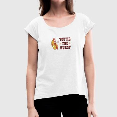 World Bratwurst Day - Day of Bratwurst - Women's T-Shirt with rolled up sleeves