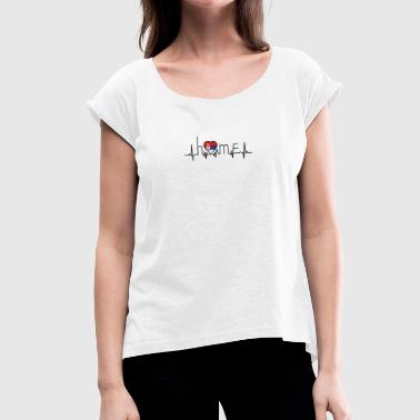 i love home Serbia - Women's T-shirt with rolled up sleeves