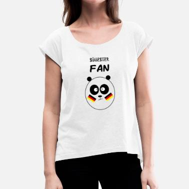 Sweetest Sweetest fan - Women's T-Shirt with rolled up sleeves