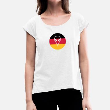 Soccer Jersey Germany soccer jersey - Women's T-Shirt with rolled up sleeves