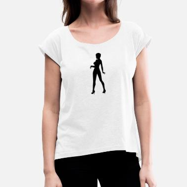 Strippers stripper - Women's T-Shirt with rolled up sleeves