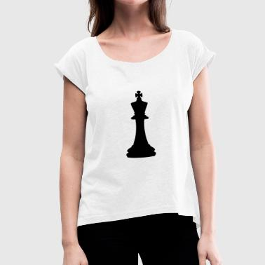 King Chess Chess King - Women's T-Shirt with rolled up sleeves