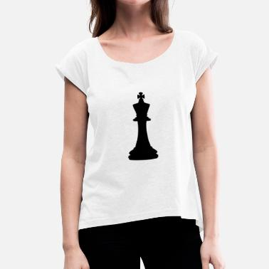 Chess King Chess King - Women's T-Shirt with rolled up sleeves