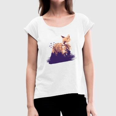 Forest Animal Fox forest animal animals - Women's T-Shirt with rolled up sleeves