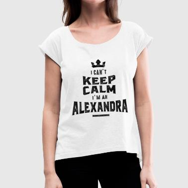 Alexandra ALEXANDRA - Women's T-Shirt with rolled up sleeves