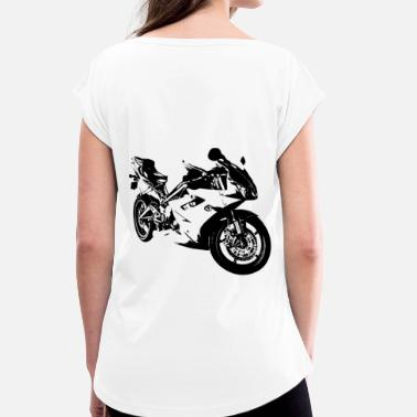 Motorcycle Love Motorcycle love - Women's T-Shirt with rolled up sleeves