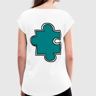 puzzle - Women's T-Shirt with rolled up sleeves