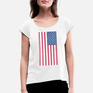 America - Women's Rolled Sleeve T-Shirt