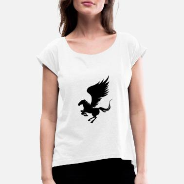 Creature Pegasus - Women's Rolled Sleeve T-Shirt