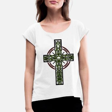 Jesus Symbol Cross Jesus symbols - Women's Rolled Sleeve T-Shirt