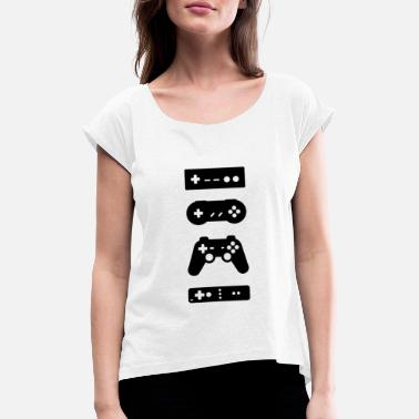 Controller Gaming Console controller - Dame T-shirt med rulleærmer