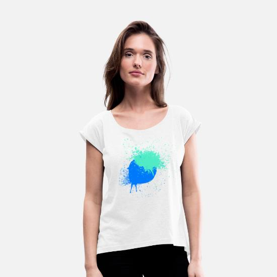 Colour T-Shirts - Color spots - Women's Rolled Sleeve T-Shirt white