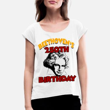 Ludwig Beethoven - Women's Rolled Sleeve T-Shirt