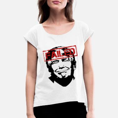 Anti Trump Anti Trump USA President Clown Stamp Gift 45 - Women's T-Shirt with rolled up sleeves