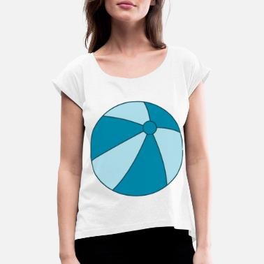 Beachball beachball - Camiseta con manga enrollada mujer