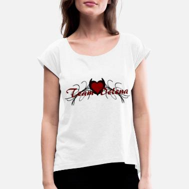 Vampire team delena - Women's Rolled Sleeve T-Shirt