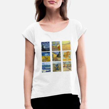 Van van gogh 2 - Women's Rolled Sleeve T-Shirt