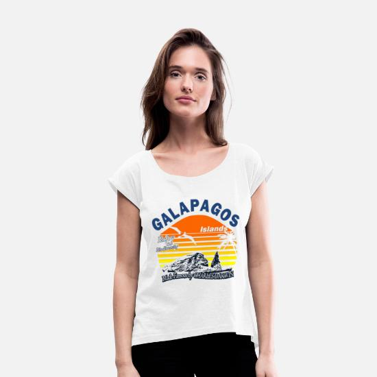 Nature T-Shirts - Galapagos Islands - Women's Rolled Sleeve T-Shirt white