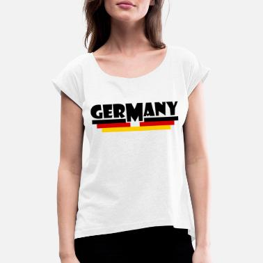 Germany Flag Germany flag - Germany flag - Women's Rolled Sleeve T-Shirt