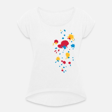 11e6a8aa1c1e2e Farbspritzer, Paintball, Farbe, Spritzer, Graffiti Frauen T-Shirt ...