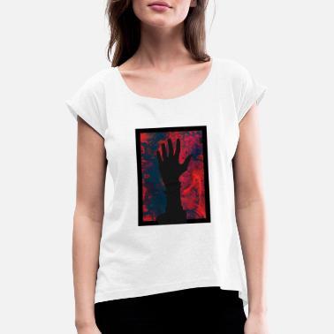 cacc0ace Stå opp, zombie? - T-skjorte med rulleermer for kvinner