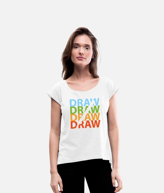 Image T-Shirts - To draw - Women's Rolled Sleeve T-Shirt white