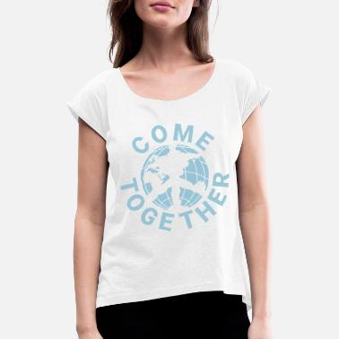 John Lennon Come Together - John Lennon - Women's T-Shirt with rolled up sleeves